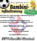 Auf gehts zum Bambini-Fußballtraining.